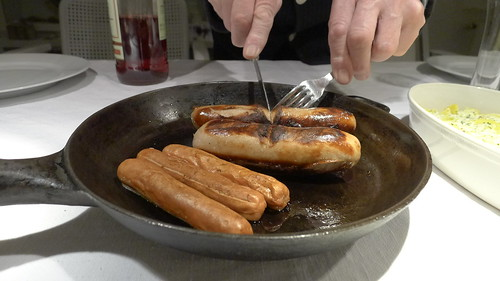 German sausage for dinner