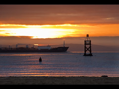 Going. Explored (Ianmoran1970) Tags: sunset beach statue landscape leaving iron ship going crosby anthonygormley anotherplace ironmen ianmoran ianmoran1970