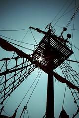 ahoi! (claudiarndt) Tags: sun star ship mast gdansk danzig sailer sailingboat retrocolours