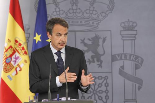 Zapatero en rueda de prensa