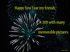 Happy New Year my friends. (Carlos Vieira OFF.) Tags: rveillon fogosdeartificios showpirotcnico