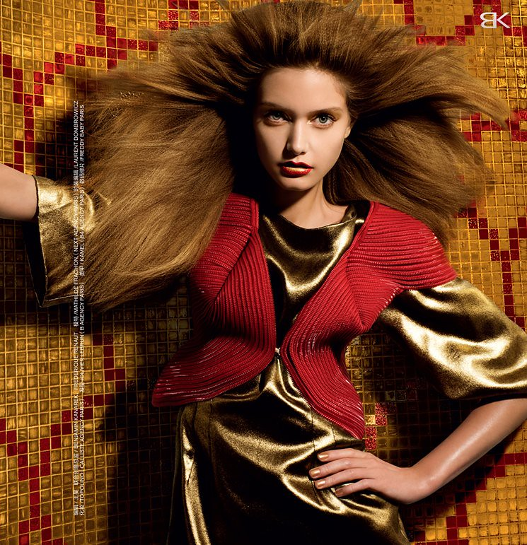 Ingrid Vlasov red SS2011 zipper jacket