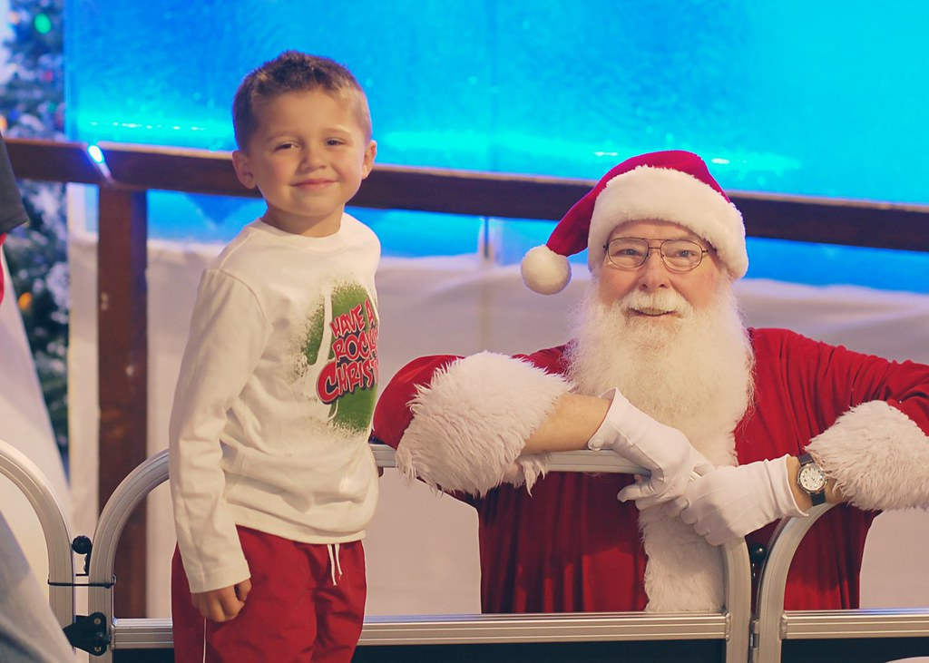 Peyton and Santa 2010