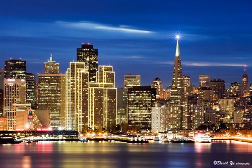 Embarcadero Center Christmas Lights San Francisco