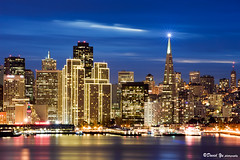 Embarcadero Center Christmas Lights San Francisco (davidyuweb) Tags: christmas lights san francisco pyramid center embarcadero transamerica sfbay sfist