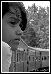 The silent wonderer (Malaka Mp) Tags: portrait girl train srilanka wonderer