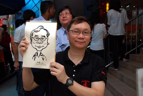 Caricature live sketching for BAT White Christmas Party 2010 - 9