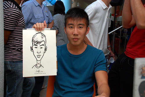 Caricature live sketching for BAT White Christmas Party 2010 - 14