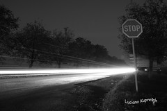 STOP!!! (Luciano Kupreak) Tags: city light bw tree car night canon dark focus long exposure republic expo czech nacht sigma luciano cechy noc 2010 cesko kladno 50d canoneos50d canon50d kupresak