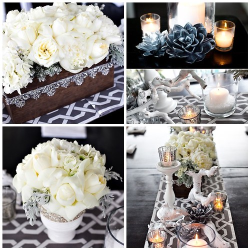 Winter Reception Inspiration This glamourous winter tablescape could be