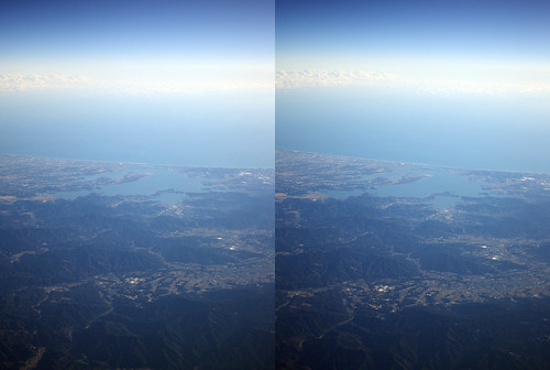 Lake Hamana, stereo parallel view