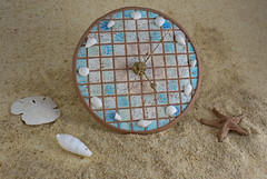 Beach Themed Faux Mosiac Clock