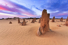 Pinnacles Sunset (SoniaMphotography) Tags: travel west canon kimi rebel coast scenery desert limestone sonia westcoast cervantes westernaustralia pinnacles nambungnationalpark thepinnacles soniam 450d