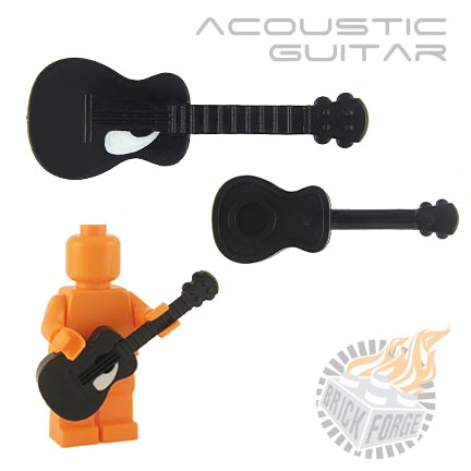 Acoustic Guitar - Black (white pickguard print)