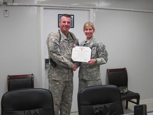 Milhorn receives Defense Meritorious Service Medal