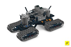 Indrik LDD file (mahjqa) Tags: orange power lego tracks technic vehicle functions tracked moc ornj studless mahjqa vayamenda indrik stilzkin