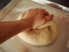 Whole Wheat Bread: Kneading
