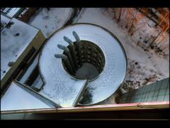 nothing but footprints (atomhirsch) Tags: berlin tower abandoned concrete office decay forgotten vacant left derelict glas decayed offices beton verlassen stahl rohbau vergessen bürohaus büros bauruine büroturm investruine atomhirsch