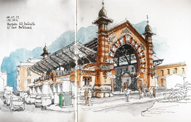 Málaga, mercado del Molinillo