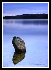 Rock Loch Ard. (artfromaf) Tags: art rock reflections dawn scotland nikon trail loch nikkor trossachs ard callander gloaming aberfoyle lochard kinlochard artfromaf trossachstrail