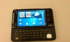 The HTC Shift 4G's keyboard