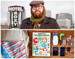 James Diptych (J Trav) Tags: portrait persona diptych whatsinyourbag theitemswecarry eoscanon5dmarkii showusthecontentsofyourbag