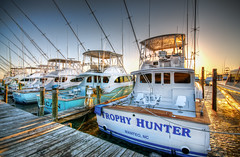 Trophy Hunter (Sky Noir) Tags: sunset sea yellow oregon boats nc fishing dock nikon offshore north deep sigma carolina inlet outer hdr banks obx charter gulfstream sportfishing skynoir tropyhunter bybilldickinsonskynoircom