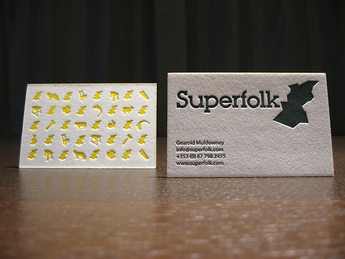 Superfolk Letterpress Cards (Set)