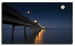 Moonlight over Deal Pier ............ (pete stone) Tags: moon seascape kent long exposure deal moonlight canoneos5d dealpier