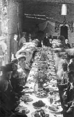 1911: Coronation celebrations at Stanton Fitzwarren (Postcard 2) (Local Studies, Swindon Central Library) Tags: flowers people food tea drink postcard hats flags celebrations tables 1910s hooper coronation 1911 stantonfitzwarren