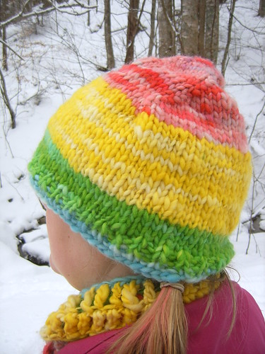 Rainbow Stripe Happy Hat