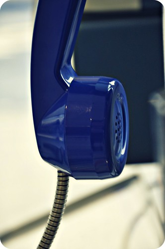[ Tell Me Your Secrets ] Blue Telephone : Paris Charles De Gaulle Airport : France