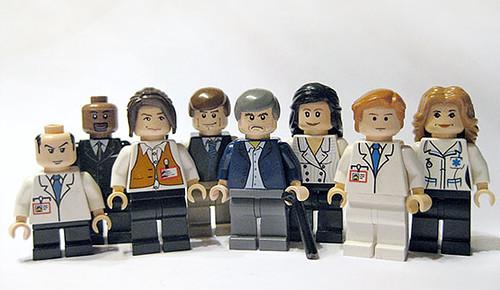 Custom minifig House MD cast custom lego minifigures