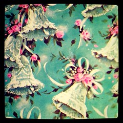 #karma: on the same day I found this sweetie Tiffany blue and pink #wedding bell paper, my sister and her fiancé set the date! (lakbdesign/fergusandme) Tags: old blue wedding love bells vintage square squareformat tiffany wrappingpaper estatesale iphoneography lakbdesign fergusandme instagramapp uploaded:by=instagram