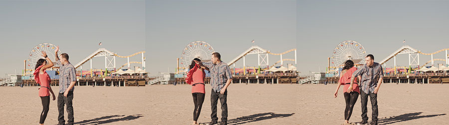 Santa Monica Pier Engagement photos, Los Angeles Wedding Photographer 012