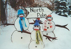 Sock Monkey Snowman Family (monkeymoments) Tags: whimsy humor snowmen sockmonkeys monkeys popculture merrychristmas whimsical northpole monkeyfun
