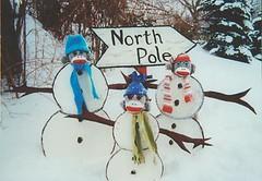 Sock Monkey Snowman Family (monkeymoments) Tags: whimsy humor snowmen sockmonkeys monkeys popculture merrychristmas whimsical northpole monkeyfun