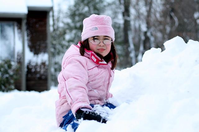Dova in the snow