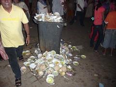 Garbage bins full (dirtypanjim5) Tags: goa dirty bin rubbish plates disposable panjim joegoauk campal