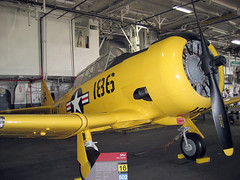 SNJ Texan (pr0digie) Tags: yellow museum plane aircraft wwii navy worldwarii aircraftcarrier fleet propeller prop ussmidway snjtexan