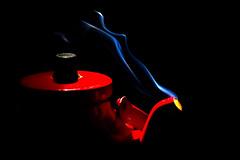 Red hot pot (Mauritzson Foto) Tags: blue red hot coffee sweden smoke pot rod fotosondag fs110116