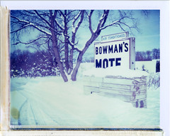 Niles, MI (moominsean) Tags: winter snow polaroid michigan motel chill 190 bowman niles airconditioning mote iduv expired112007