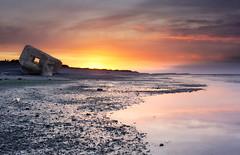 Nuclear Sunset! {EXPLORED - FP} ( David.Keochkerian ) Tags: light sunset sky seascape france re