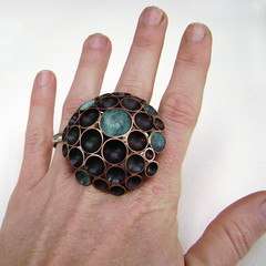 RAW 52-3: Diatom (shae {.citizen.objects.}) Tags: ocean bronze raw copper patina diatom hemispheres ringaweek