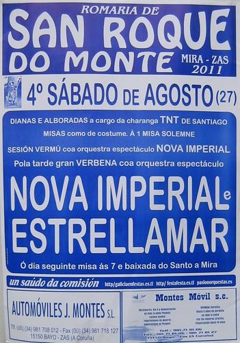 Zas 2011 - Mira Romaría de San Roque do Monte - cartel