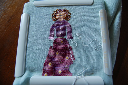Curly-Q Ewe by Little House Needleworks - in progress