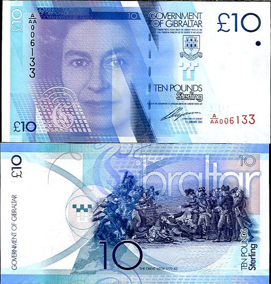 10 Libier (Pounds) Gibraltar 2010