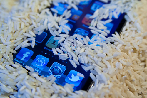 Drying iPod Touch in Rice Macro January 19, 20115