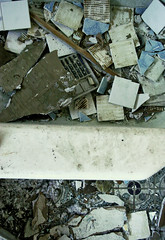 Tub Stack (zakinthebox) Tags: houses gold dirt tiles math prints paisley rubble baldy tubs wonderbread tickled caulk