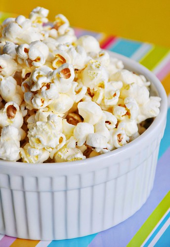 Stovetop Popcorn with White Truffle Oil